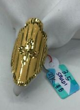 Gold Authentic. 21k gold ring size 8,,