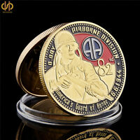 1944.6.6 USA Gold Military 82nd Airborne Division Challenge Souvenir Coin