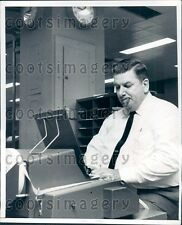 1969 Production Manager w Cigar Punches Out Press Copy WSG Strike Press Photo