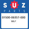 01500-06357-000 Suzuki Bolt 0150006357000, New Genuine OEM Part