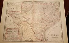 "PRE 1893 ORIGINAL TEXAS map showing Greer County measures 16 1/4"" X 22 1/4"""