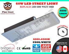 60 Watt LED Street Light Road Outdoor Floodlight Pole Shoe Box Garden Industrial