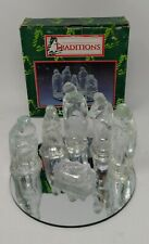 Traditions Glass Nativity Set With Mirror Base