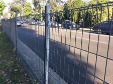 Rolled top galvanised Steel Mesh Fence Panel 0.9 m x 2.4 m