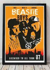 Beastie boys original poster artwork.A3 size
