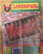 Liverpool FK Austria Memphis European Cup Quart de finale Programme 1985