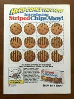 1987 Nabisco Striped Chips Ahoy Cookies Vintage Print Ad/Poster Retro 80s Décor