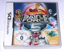"NINTENDO DS SPIEL "" HOT WHEELS BATTLE FORCE 5 "" DEUTSCH / OVP"