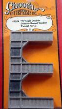 Double Outside Braced Timber Tunnel  Chooch Enterprises CCH-9504  N Scale  NIB