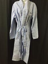 ONE NEW Dressing Robe Striped Seersucker Durable Press Large w/Tie By Phoenix