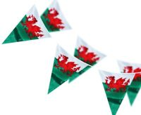 33ft Wales Welsh Dragon Triangle Flags Rugby 6 Nations Euro 2020 Bunting