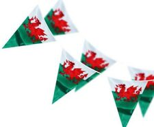 RUGBY 6 NATIONS 33FT OF WALES WELSH TRIANGLE FLAGS BUNTING