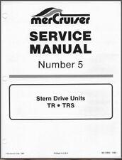 78-93 Mercury MerCruiser #5 TR TRS Stern Drive Units Service Repair Manual CD