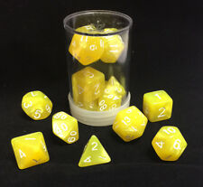 Polyhedral 7 - Die Max Pro Premium Dice Set - Pearl Yellow with White MX
