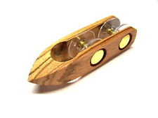 Lovely Handmade ZEBRA WOOD Wooden Tatting Shuttle w/2 Removable Bobbins