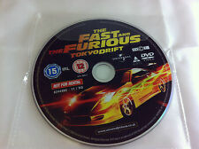 The Fast And The Furious Tokyo Drift DVD R2 - DISC ONLY in Plastic Sleeve