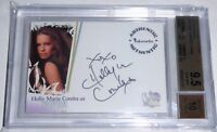 2006 Charmed Autograph HOLLY MARIE COMBS Auto PIPER BGS 9.5 GEM MINT Card