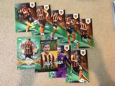 Hull City Green Set 14/99 made 2014/15 Topps Barclays Premier Gold 5x7 Soccer