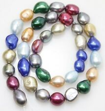 "Natural Mix-Color Baroque Pearl Loose Gem 7-8X10-11mm 14"" Long Strand"