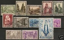 Belgium 1933 YV 363-374  CANC  VF