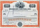 Pennzoil United Bond Certificate Stock Oil Gas Nascar Racing