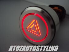 Savage SW3005 Eng Push Button With Red LED Latching - Hazard