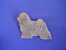 Tibetan Terrier pin Standiing #71A Pewter dog jewelry by Cindy A. Conter Cac