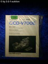 Sony Bedienungsanleitung CCD V700E Video Hi8 Handycam (#0072)