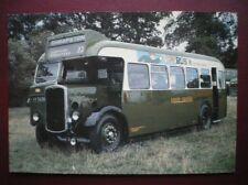 POSTCARD BUS TRAM VV 5696 1937 BRISTOL JO5G SINGLE DECKER BUS
