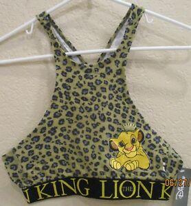 Disney Lion King Bralette bra animal print XS S M L XL  NWT