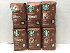 Starbucks Breakfast Blend, Whole Bean Coffee, Medium Roast, CASE OF 6, APR/2021