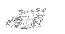 GENUINE LEXUS SC430 2002 2003 2004 2005 DRIVER SIDE LH HEADLIGHT OEM 81170-24100