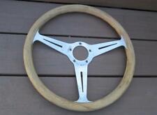 Vintage Real Wood Grip Steering Wheel 3 Aluminum Spokes Hot Rod Muscle Car SWEET