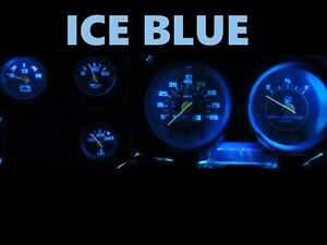 Gauge Cluster LED Dashboard Bulbs Ice Blue For Chevy 73-87 C10 C20 C30 Truck