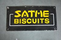 Vintage SATME Biscuits Ad Porcelain Enamel Signboard