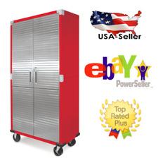 Metal Rolling Garage Tool File Storage Cabinet Stainless Steel Doors C 00004000 olor Red