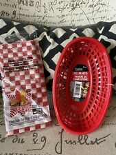 New listing 4 Deli Basket & 15 Wax Liners Bbq Sandwich Burger Hot Dog Picnic Food Catering