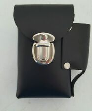 Hard Leather Riveted Cigarette Snap Case Up To 100's Made In USA