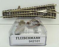 Fleischmann N 9179 + 942101 Weiche R mit Herzstück und Antrieb wie NEU C2394