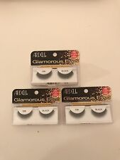LOT OF 3 ARDELL Glamorous Lashes #138 Black False Eyelashes Fake Falsies NEW