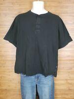 Craftsman Black Short Sleeve Henley Shirt Mens Size Large L EUC
