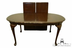 """ETHAN ALLEN Georgian Court Solid Cherry 102"""" Oval Dining Table 11-6214"""
