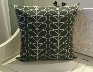 HANDMADE cushion cover Use Orla Kiely SMALL stem cool grey Fabric SINGLE SIDED