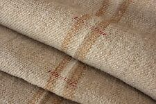Vintage STAIR RUNNER grain sack fabric old 6.3 YDS gold caramel homespun WASHED