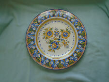 Large Italian Faience Wall Plaque Charger