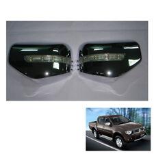 Wing Side Mirror Cover Chrome + LED 2 Pc Fit Mitsubishi L200 Triton 2006 - 2014