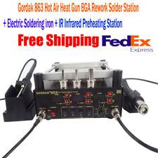 Gordak 863 Hot Air Heat Gun BGA Rework Solder Station Bundle - FREE SHIPPING