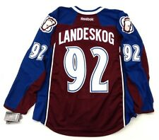 GABRIEL LANDESKOG COLORADO AVALANCHE REEBOK EDGE AUTHENTIC HOME JERSEY SIZE 54