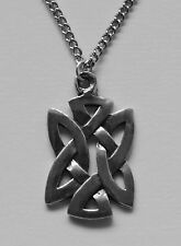 Chain Necklace #60 Pewter CELTIC KNOT retangle (28mm x 17mm)