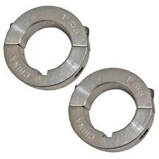"Set of 2, 1-3/8"" (1.375) Aluminum Split Locking Collar, Go Kart Minibike Parts"